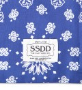 Blue/White FUCT SSDD Bandana Print Pillow