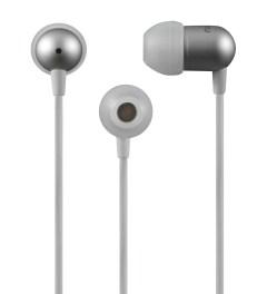 Nocs White NS200 Aluminum iOS Earphones Picutre