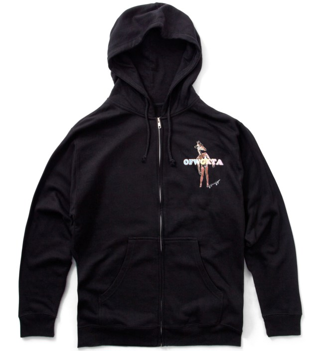Black Giraffe Zip Up