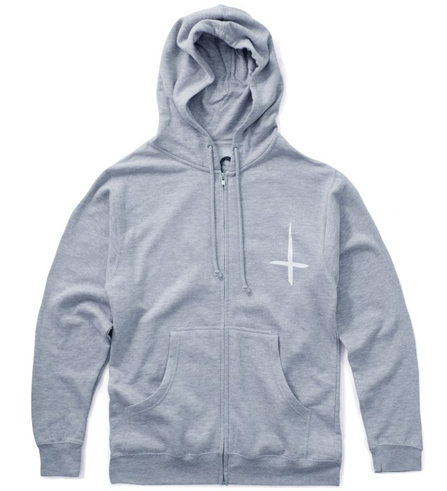 Grey Kitty Zip Up