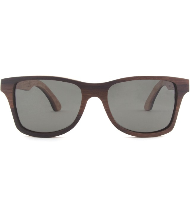 Canby Select Rosewood and Quilted Maple Polarized Grey Sunglasses