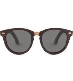 Shwood Oswald Select Rosewood and Quilted Maple Polarized Grey Sunglasses Picutre