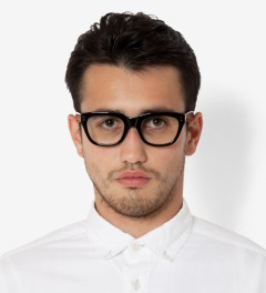 Deluxe Black/Clear Matthew Sunglasses Model Picutre