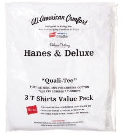 Deluxe Deluxe x Hanes 3 Value Pack Crew Neck T-Shirt Model Picutre