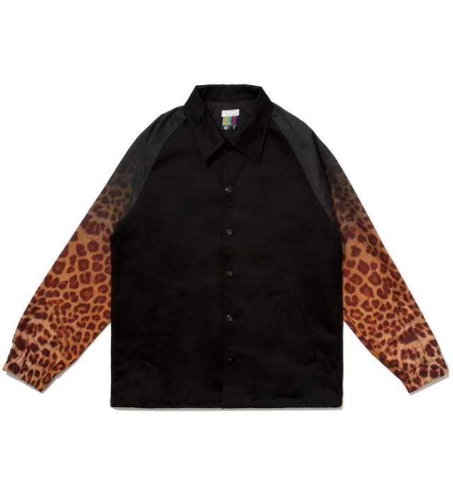 Black x Yellow Leopard Coach Jacket