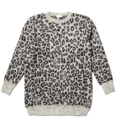 FACETASM Grey Leopard Long Sweater Picutre