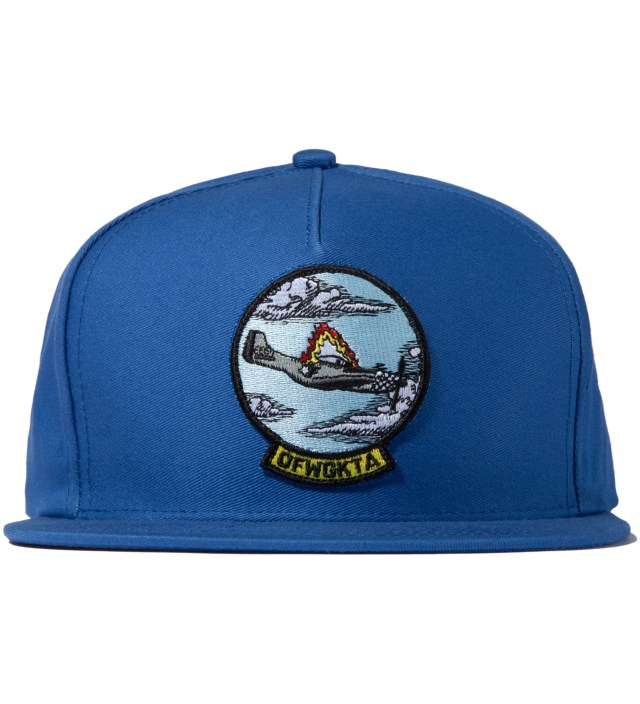 Blue Plane Crash Snapback Cap