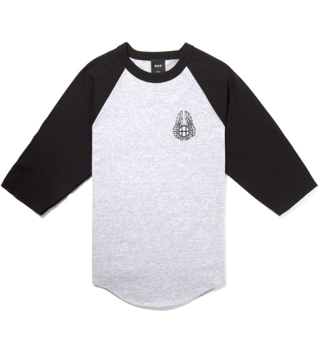 Black/Heather Striker Baseball Raglan