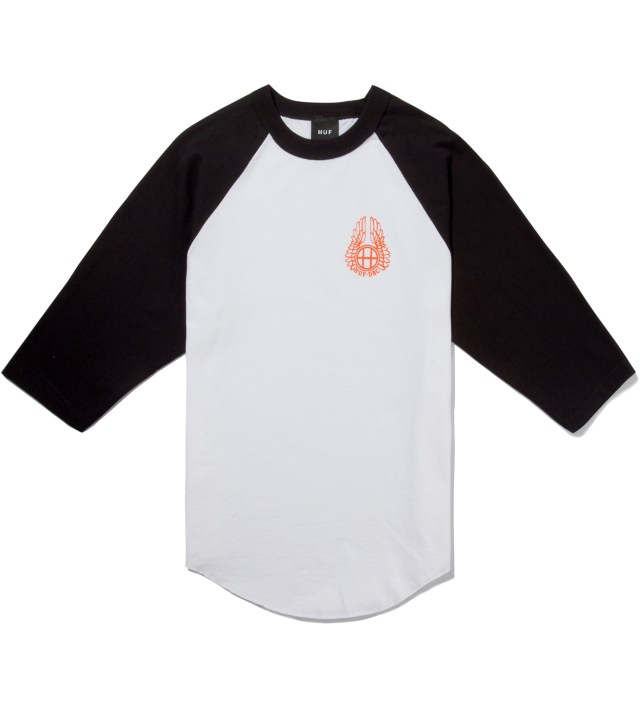 Black/White Striker Baseball Raglan