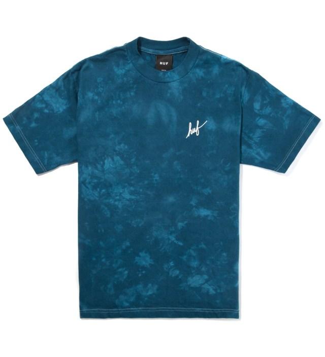 Slate Tie Dye Script T-Shirt