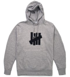 Undefeated Heather Grey 5 Strike Hoodie  Picutre