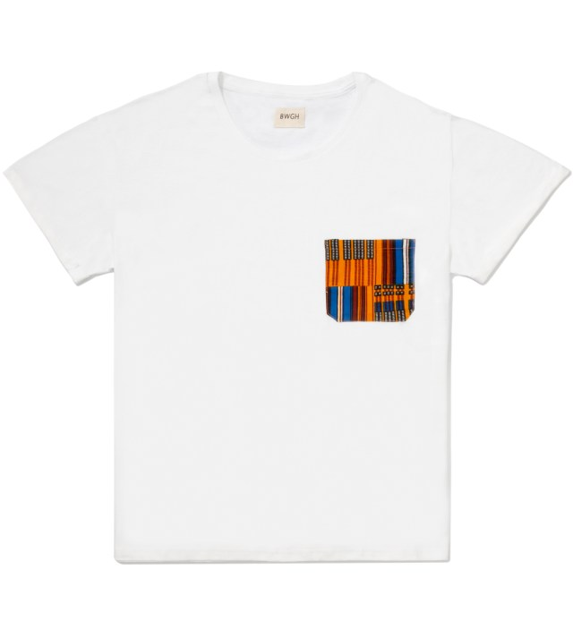 White Obamba Pocket T-Shirt