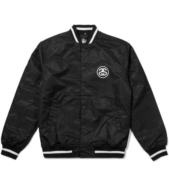 Black Varsity Coach Jacket