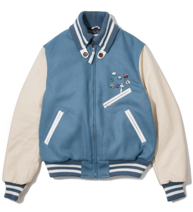 Light Blue Golden Bear Vintage Varsity Jacket