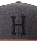 Heather Grey/Brown Classic H Wool Starter Cap