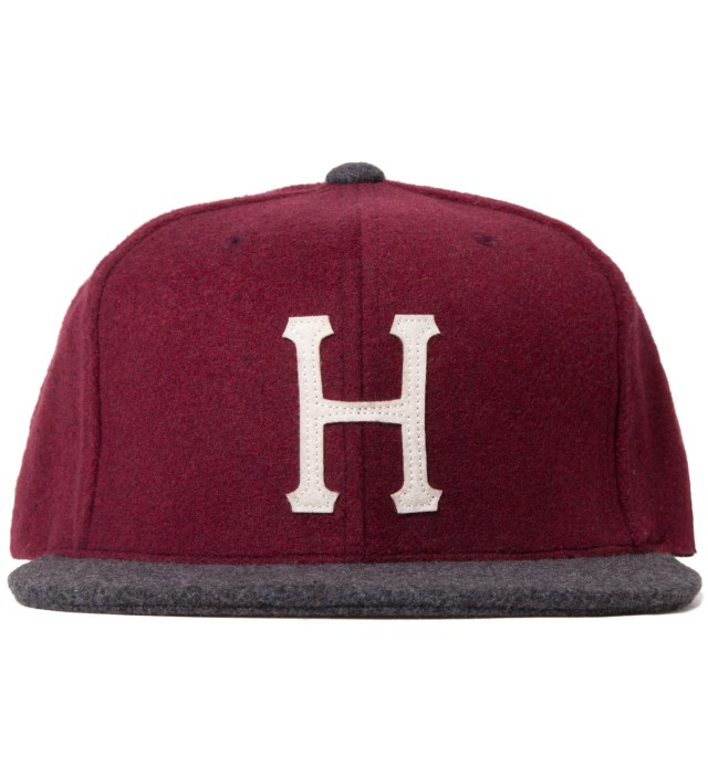 Burgundy/Grey Classic H Wool Starter Cap