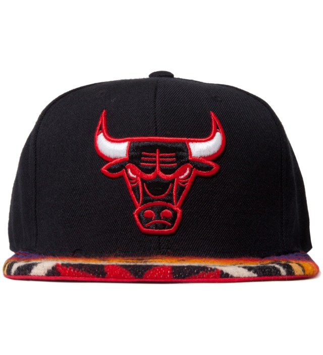 Chicago Bulls Red Navajo Strap-Back Cap
