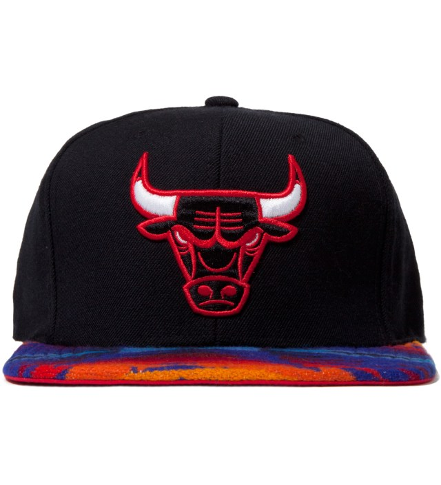 Chicago Bulls Blue Navajo Strap-Back Cap