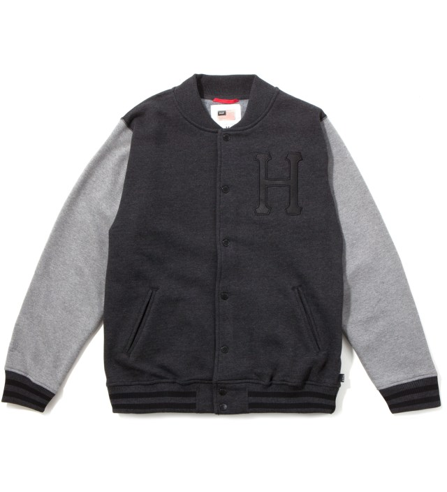 Charcoal Classic H Varsity Jacket