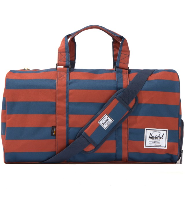 Rust/Navy Novel Duffel
