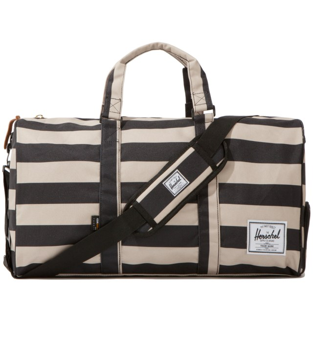 Black/Taupe Novel Duffel