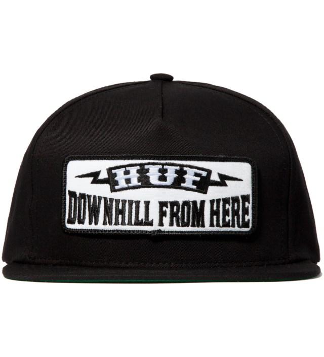 Black Downhill Snapback Cap