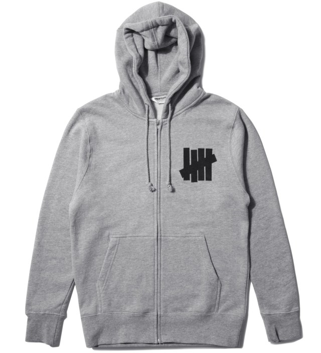 Heather Grey 5 Strike Zip Hoodie