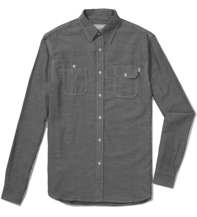 Black Fine Stripe Engineer Shirt