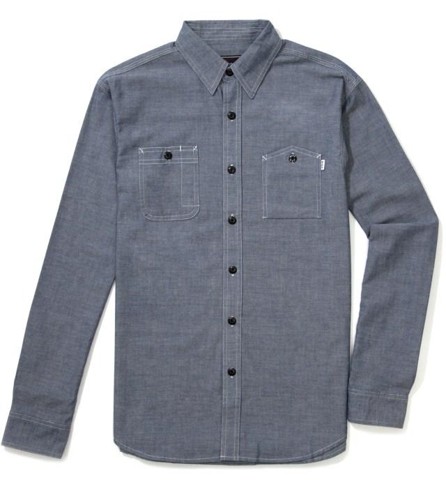 Navy Vintage Chambray Work Shirt