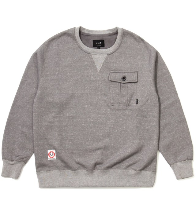 Athletic Heather Vintage Pocket Crewneck