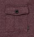 Burgundy Vintage Pocket Crewneck