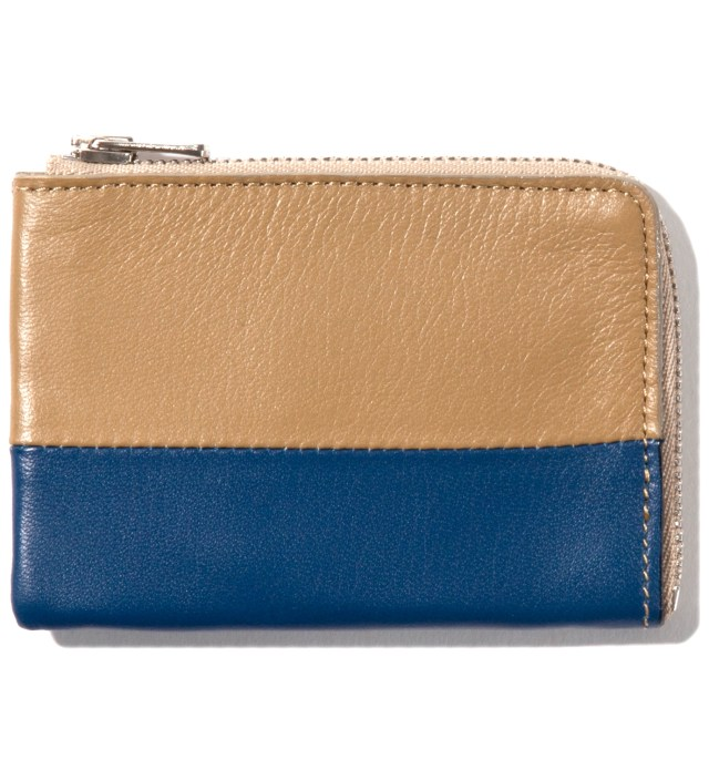 Beige/Navy Card Case