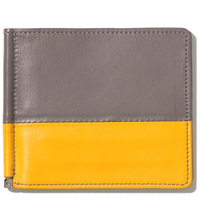 Gray/Yellow Card Case & Money Clip
