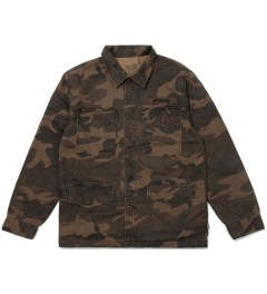 Stussy Brown Field Issue Jacket  Picutre