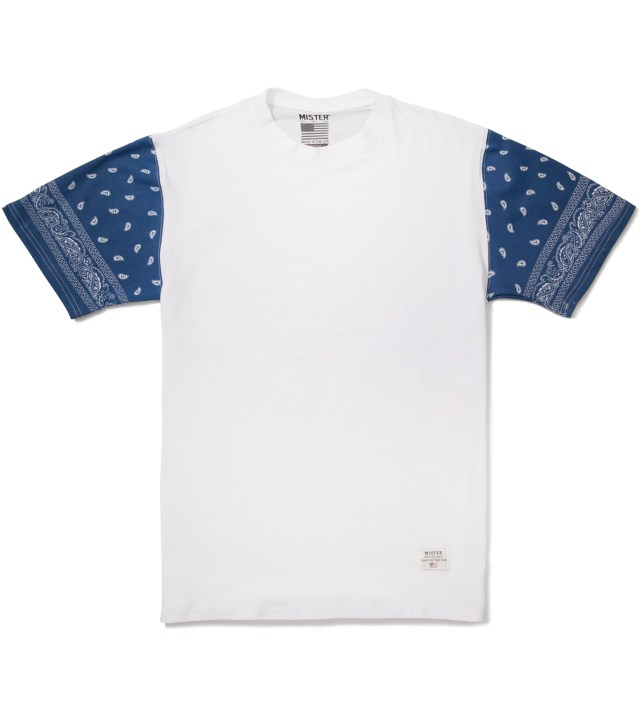 White/Navy Print Mr. Bandana Immediate T-Shirt
