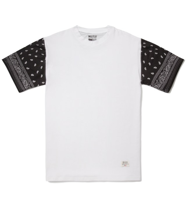 White/Black Print Mr. Bandana Immediate T-Shirt
