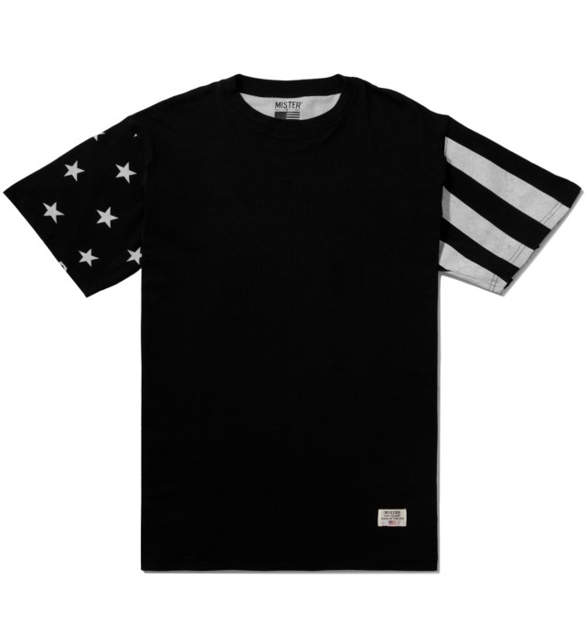 Black/White Print Mr. USA Summer Blend T-Shirt