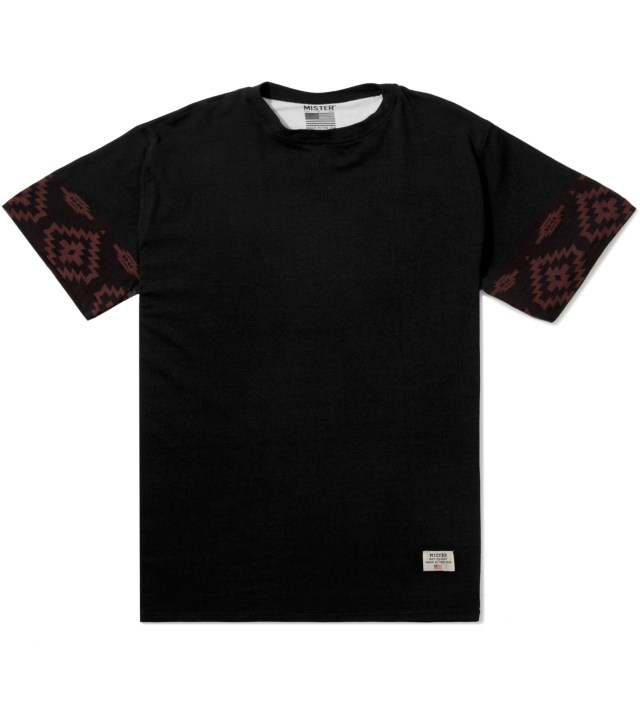Black/Maroon Print Mr. Native Immediate T-Shirt