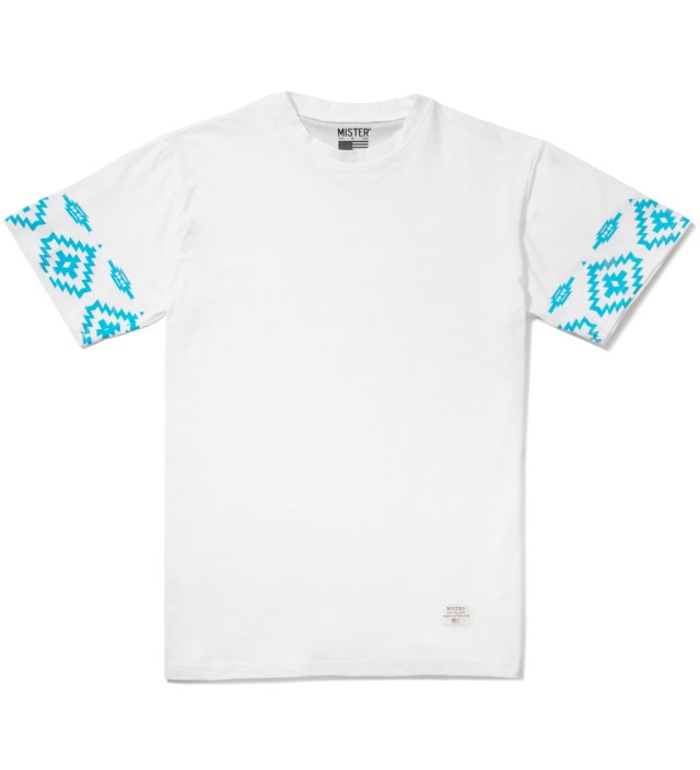 White/Turquoise Print Mr. Native Immediate T-Shirt