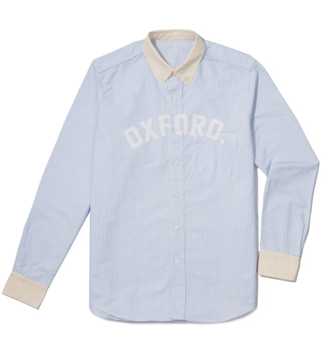 Saxe Stripe Oxford Shirt