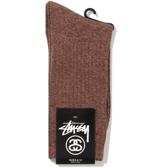 Brown Inspector Crew Socks