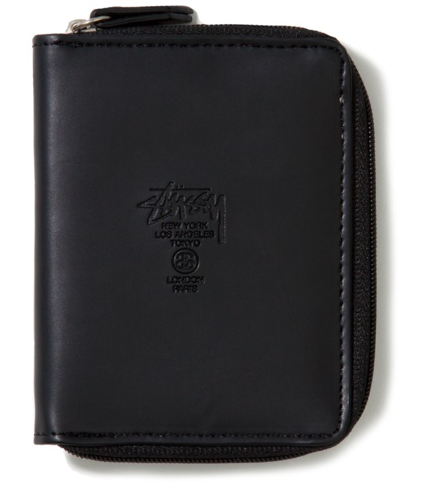 Black Super Solid Sideways Wallet