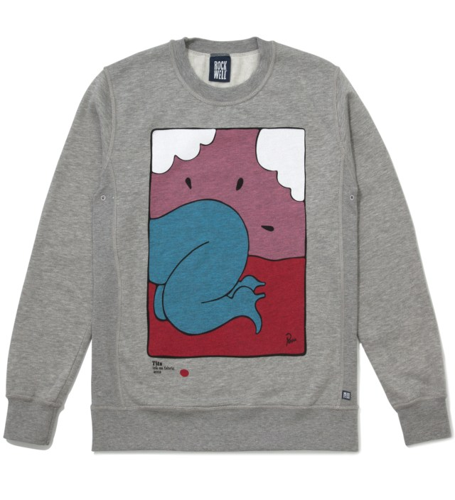 Heather Grey Tits Crewneck