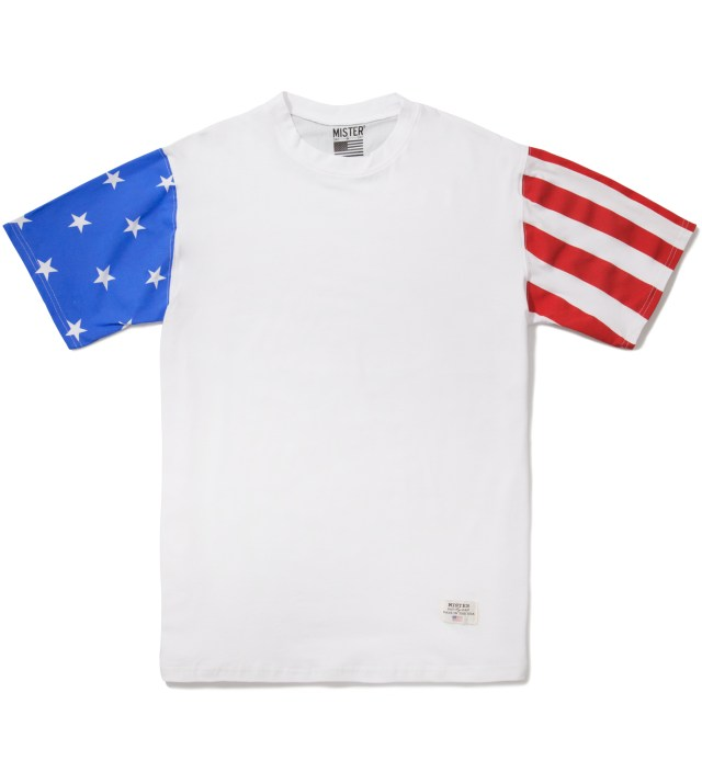 White/USA Print Mr. USA Summer Blend T-Shirt