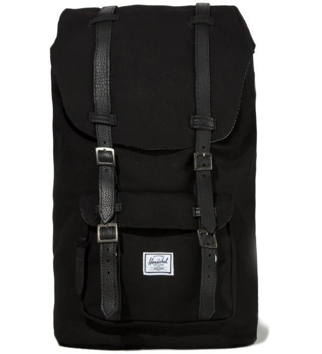 Black Little America Canvas Backpack