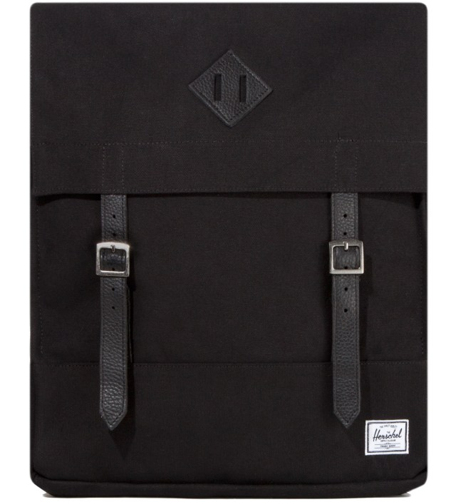Black Survey Canvas Backpack