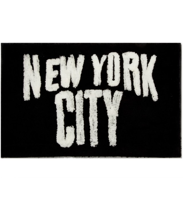 Black New York City Rug
