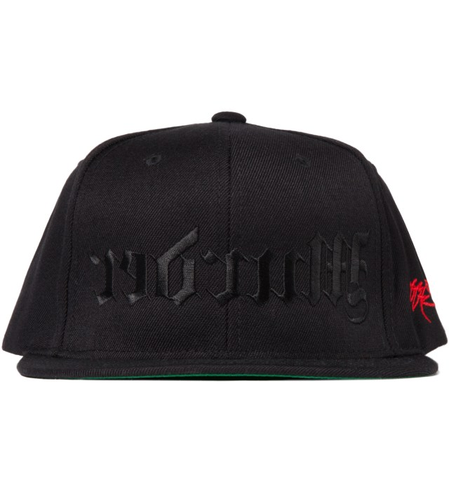 Black and Black Redrum Snapback Hat