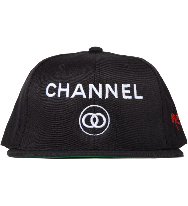 Black Channel Zero Snapback Hat