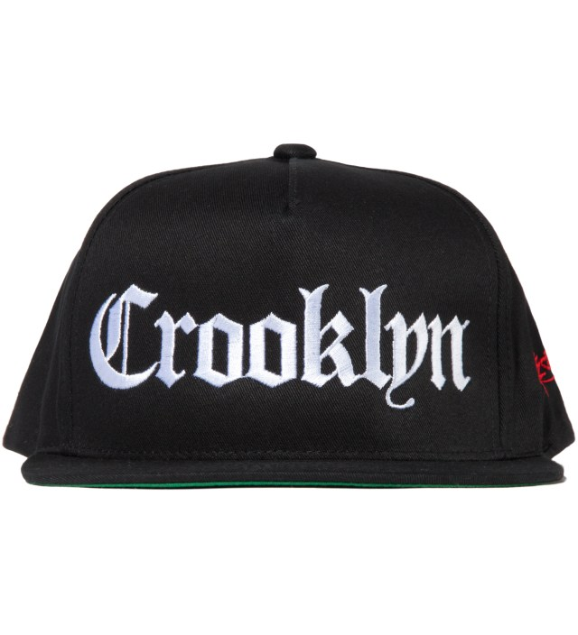 Black Crooklyn Snapback Hat